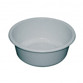 Grey Round Plastic Washing Up Bowl