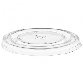 Lids for 12oz Clear Smoothie Cups (Flat/Straw Slot)