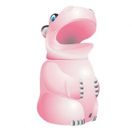 Violet Hippo Litter Bin
