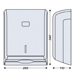 System White Hand Towel Dispenser Dimensions