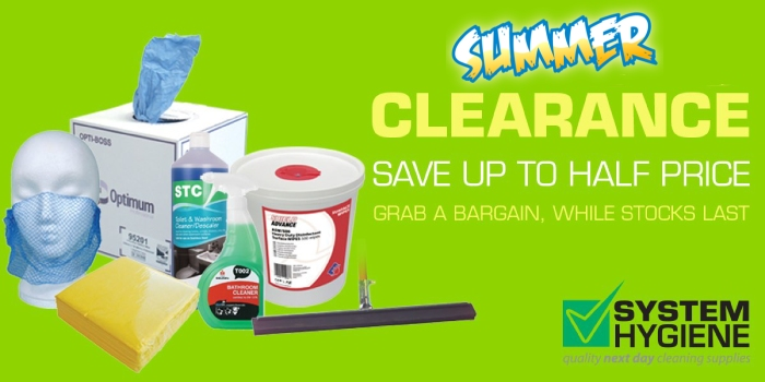 summer clearance at system hygiene