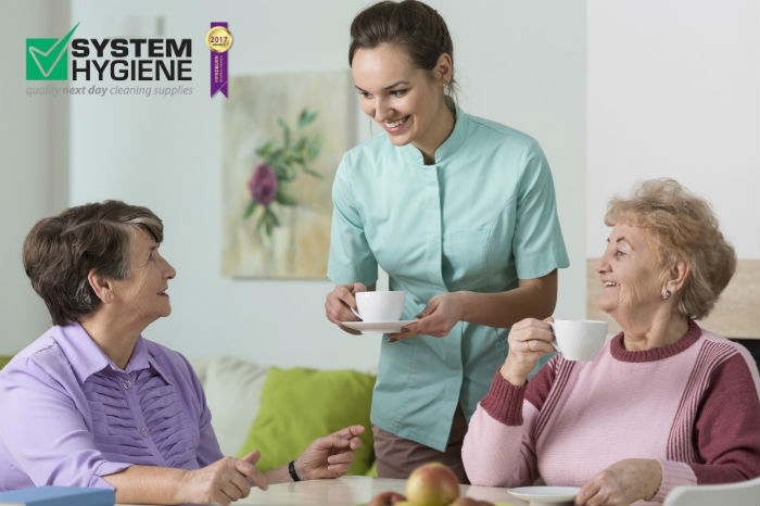 Photograph of Care Home with Carer and Patient