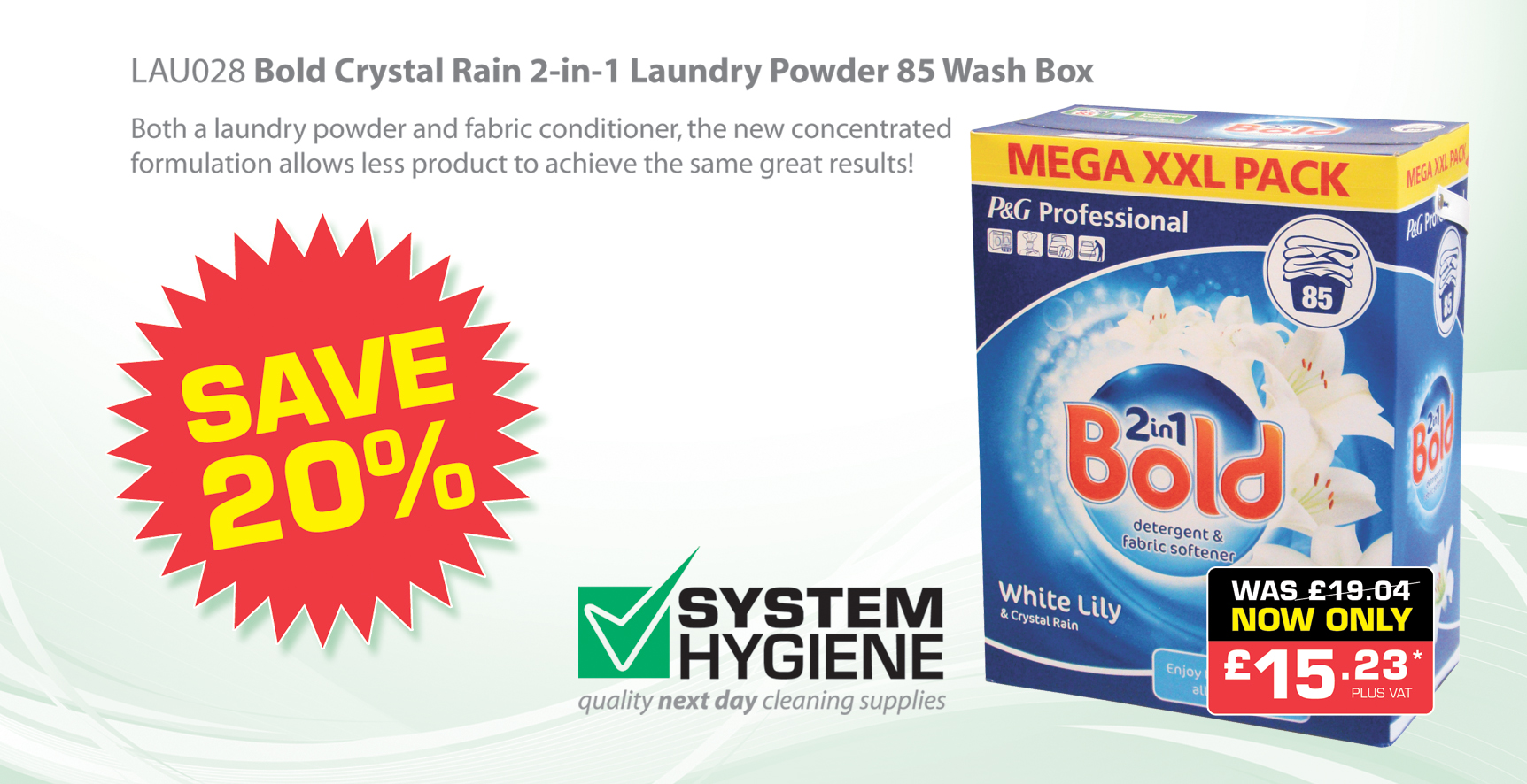 Bold Laundry Powder Offer