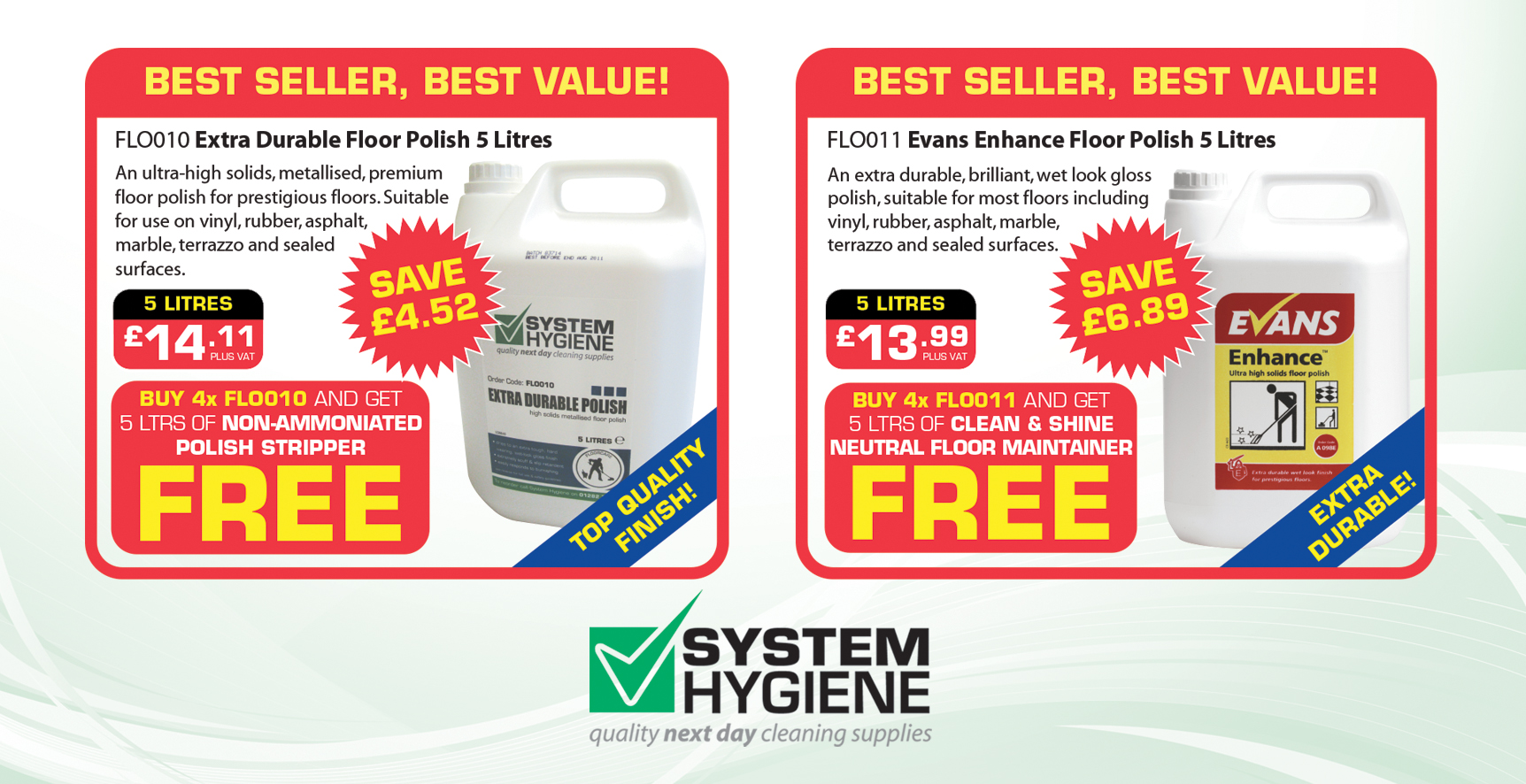 Floor Polish Special Offer