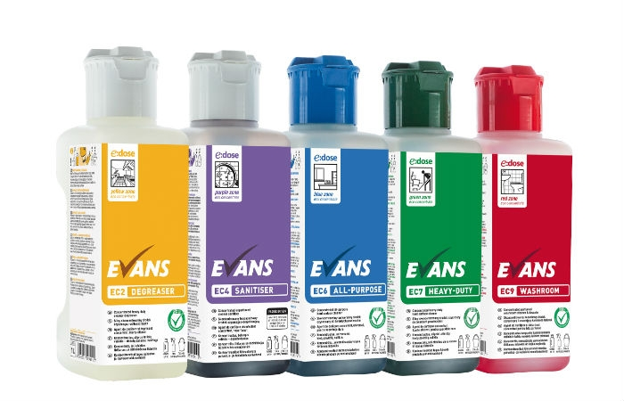 image of evans vanodine edose super concentrated janitorial products
