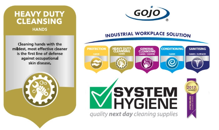 Image of heavy duty hand cleansing from GOJO and System Hygiene