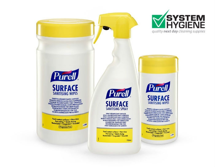 Purell sanitising spray and wipes image